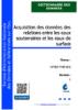 Acquisition des données des relations entre les eaux souterraines et les eaux de surface