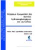 Processus d'acquisition des données hydromorphologiques des cours d'eau
