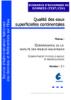 Qualité des eaux superficielles continentales: scénario d'échange des données physico-chimiques et microbiologiques