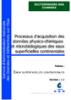Processus d'acquisition des données physico-chimiques et microbiologiques des eaux superficielles continentales