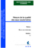 Mesure de la qualité des eaux souterraines