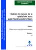 Station de mesure de la qualité des eaux superficielles continentales