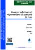 Zonages techniques et réglementaires du domaine de l'eau