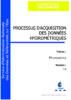Processus d'acquisition des données hydrométriques